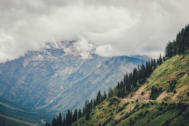 mountain-sky-valley-tree-hill picture material