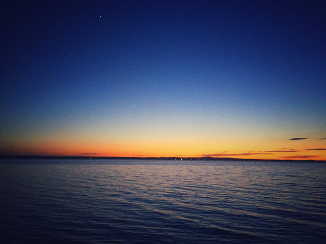 sunset-water-dawn-evening-horizon picture material