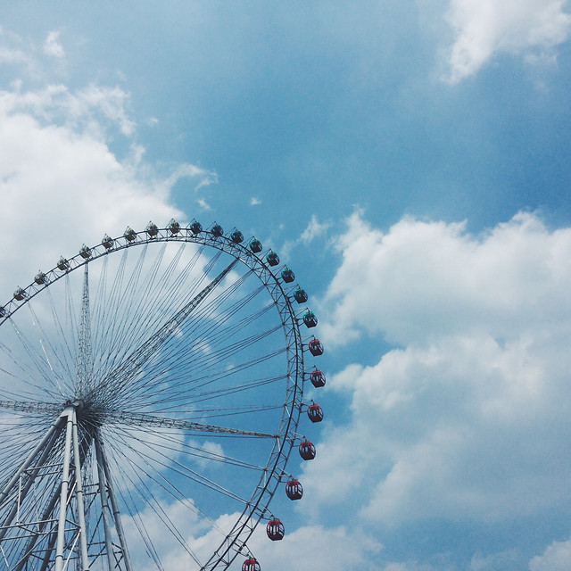 entertainment-sky-carousel-ferris-wheel-roll-along picture material
