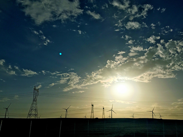 sky-sunset-energy-landscape-silhouette picture material