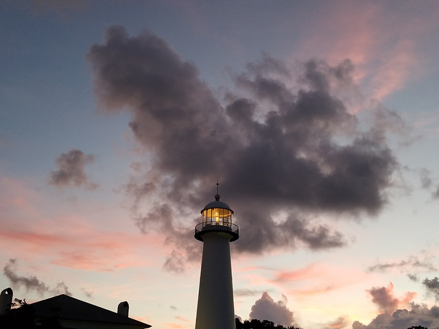 lighthouse-sunset-no-person-sky-dawn picture material