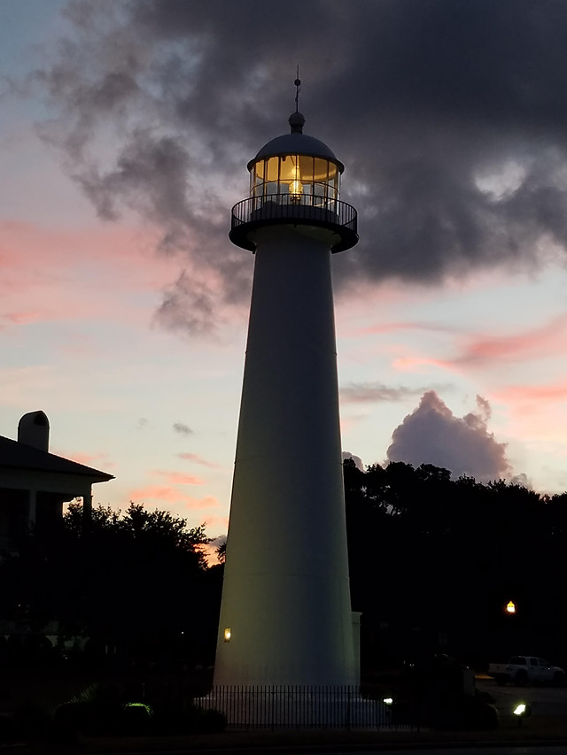 lighthouse-no-person-architecture-sunset-sky picture material