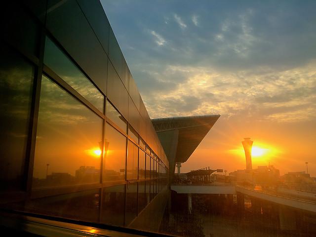 sunset-bridge-dusk-dawn-sky picture material