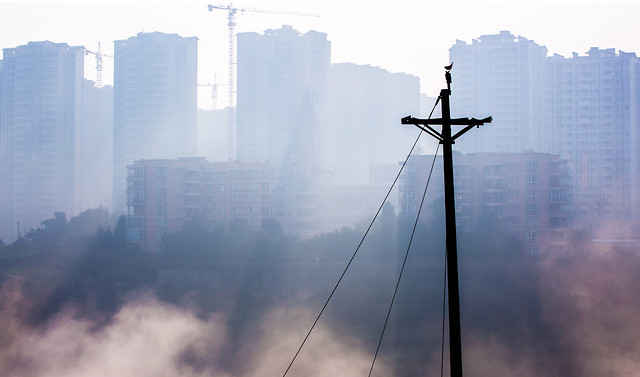 fog-sky-city-tower-tallest picture material
