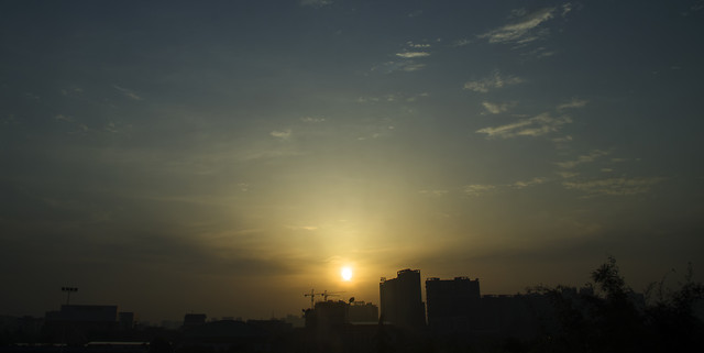 moon-sunset-sun-sky-dawn picture material