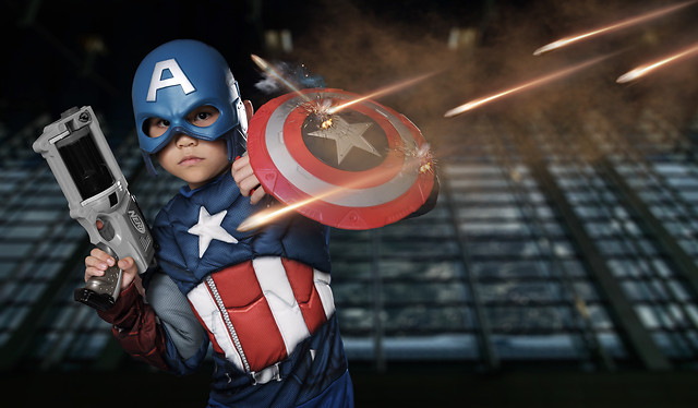 cosplay-movie-captain-america-kid-cartoon picture material