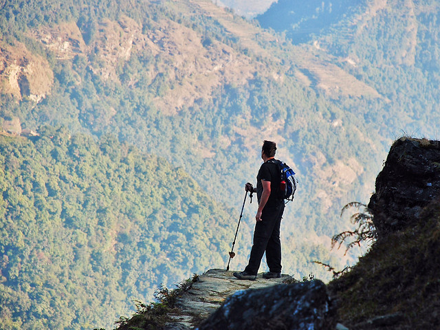 mountain-hike-climber-adventure-one picture material