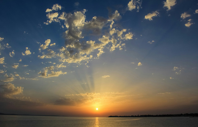 sunset-sun-water-sky-landscape picture material
