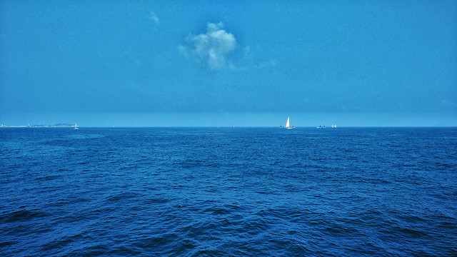 water-no-person-sea-horizon-sun 图片素材