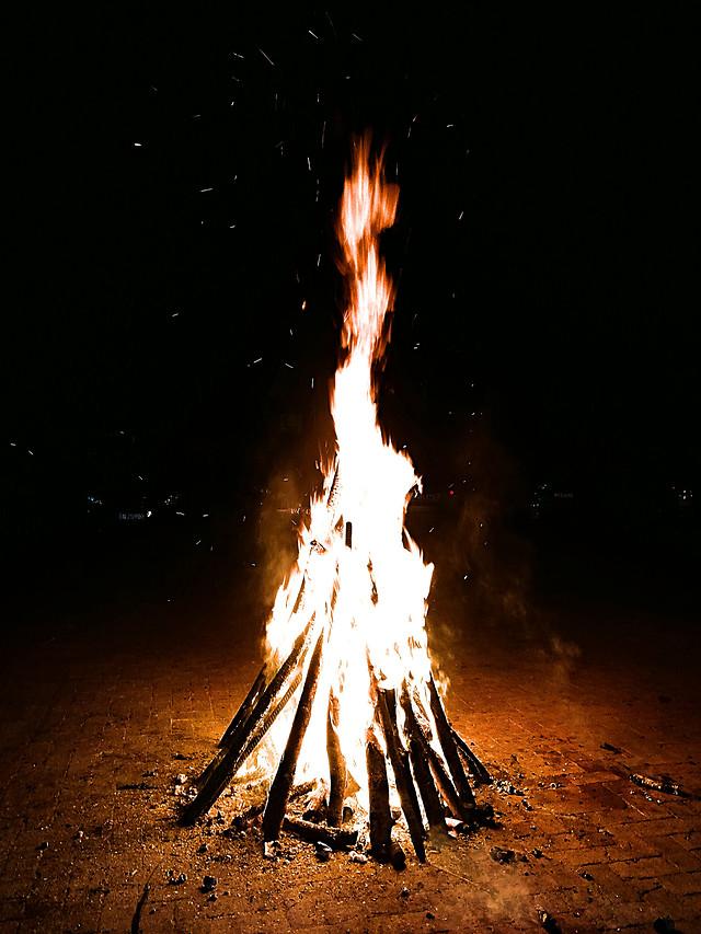 flame-hot-heat-burn-bonfire 图片素材