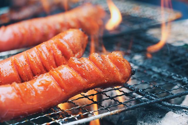 barbecue-flame-sausage-picnic-charcoal 图片素材