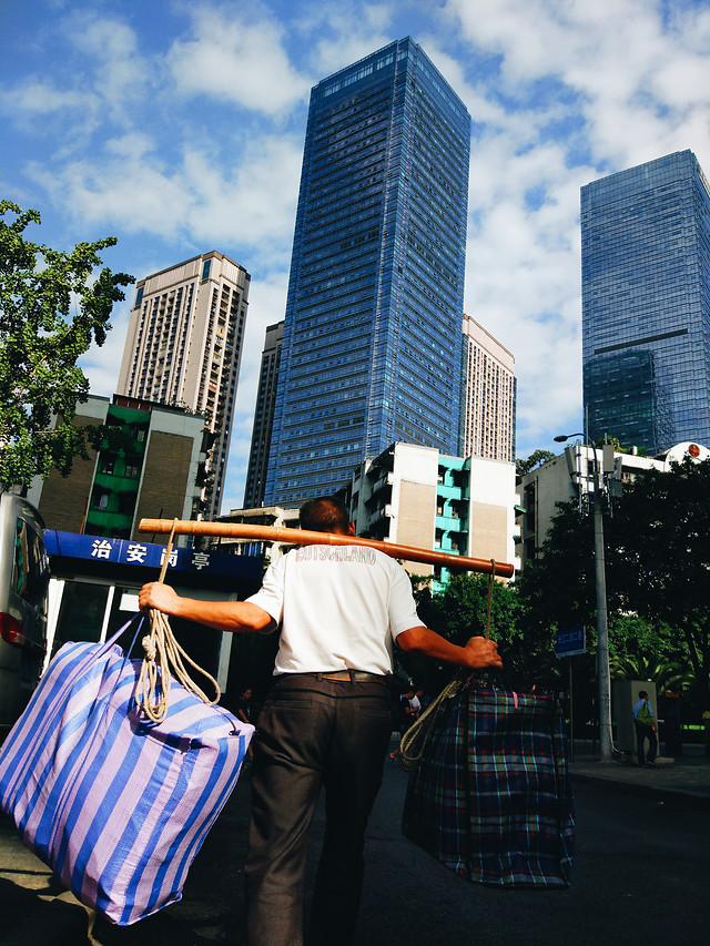 business-city-people-building-street picture material