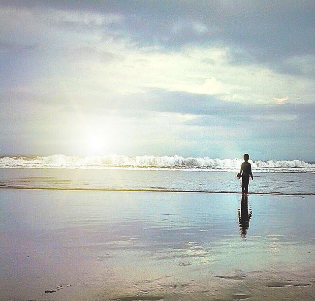 beach-water-sunset-sea-ocean picture material