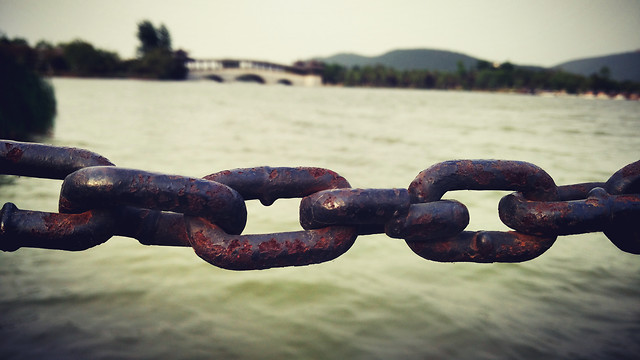chain-water-boat-sea-strength picture material