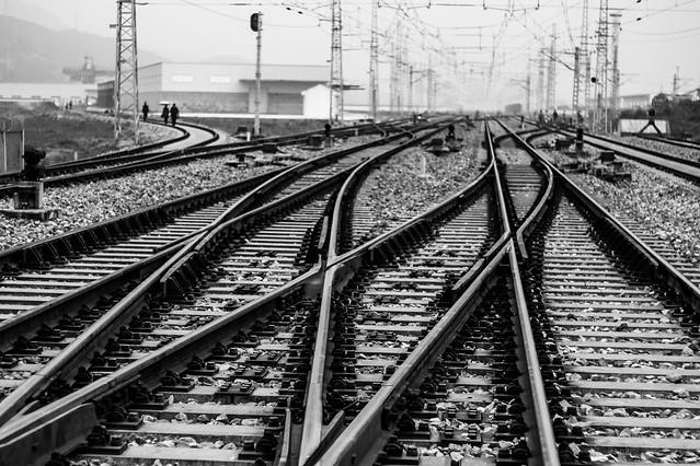 track-line-train-railway-railroad-track picture material