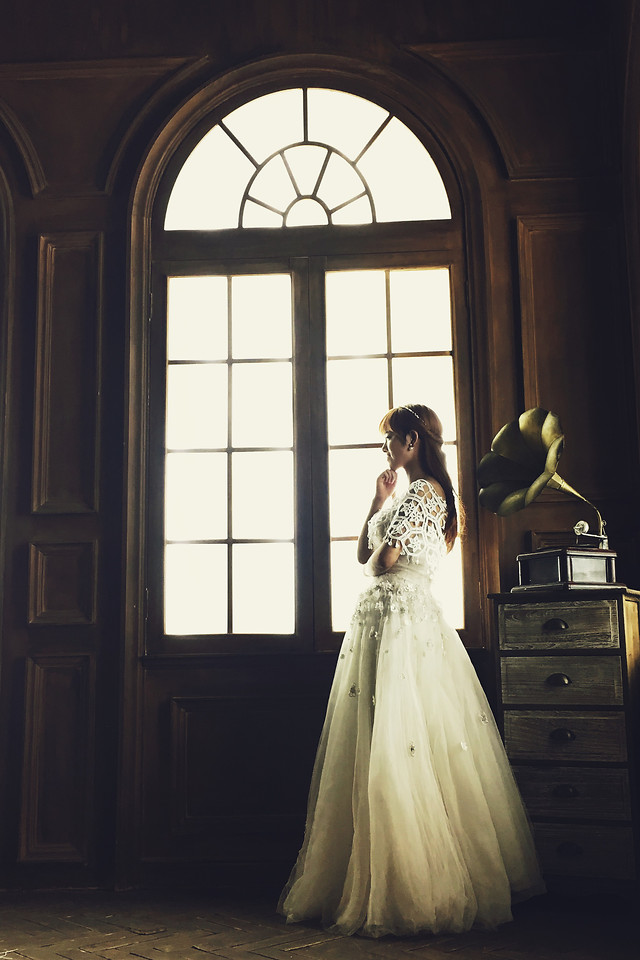 wedding-bride-gown-dress-woman picture material