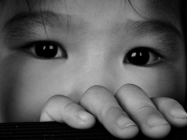 face-child-eye-skin-monochrome picture material
