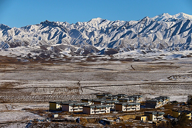 snow-mountain-building-landscape-sky-land picture material