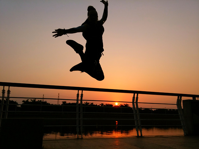 sunset-balance-people-action-recreation picture material
