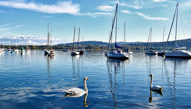 water-sea-boat-reflection-travel 图片素材
