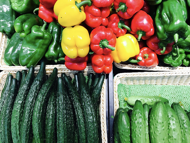 vegetable-market-cucumber-food-pepper picture material