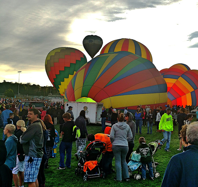 festival-balloon-people-many-group picture material