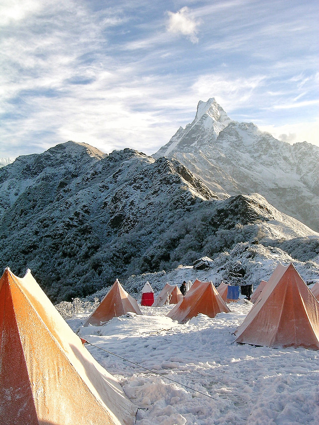 tent-snow-no-person-adventure-travel picture material