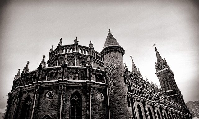 building-sky-cathedral-castle-tower picture material