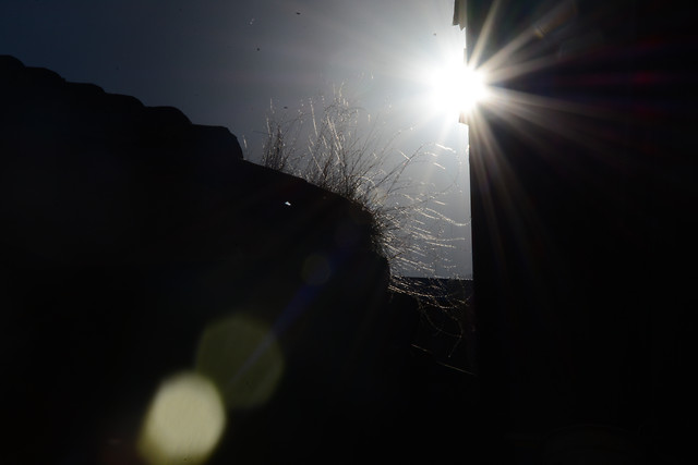 light-sun-sunset-landscape-moon picture material