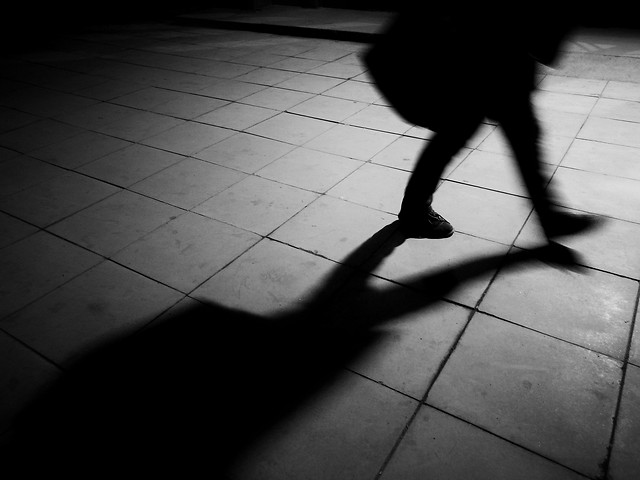 monochrome-shadow-black-white-street-people picture material