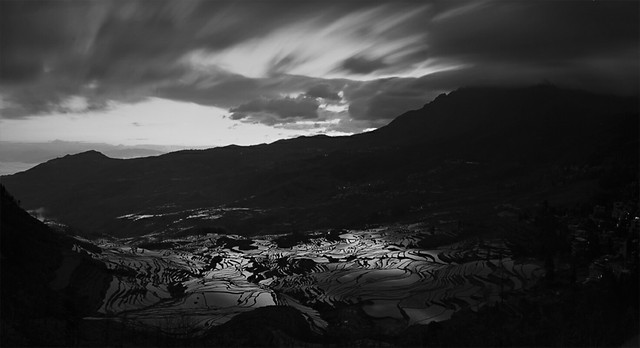 no-person-landscape-monochrome-sky-mountain picture material