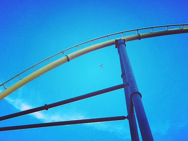sky-no-person-high-blue-amusement-ride picture material