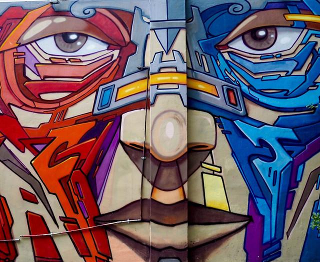 art-graffiti-mural-illustration-colorful picture material