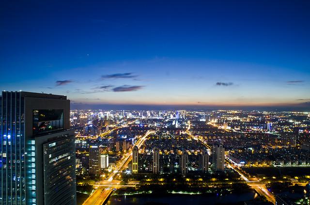 city-downtown-dusk-cityscape-metropolitan-area picture material