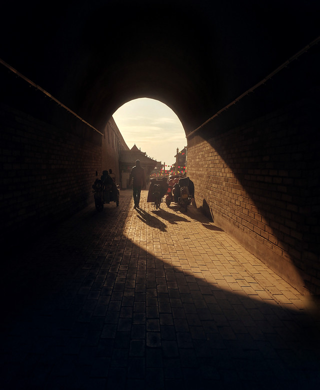 people-tunnel-man-no-person-shadow picture material