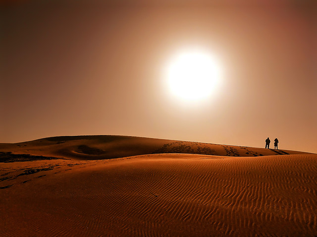 sunset-desert-dawn-sand-dune picture material