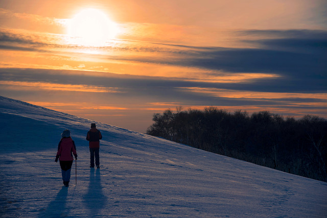 snow-winter-sunset-dawn-sky picture material