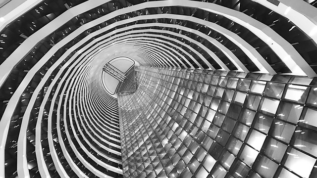 futuristic-perspective-abstract-architecture-steel picture material