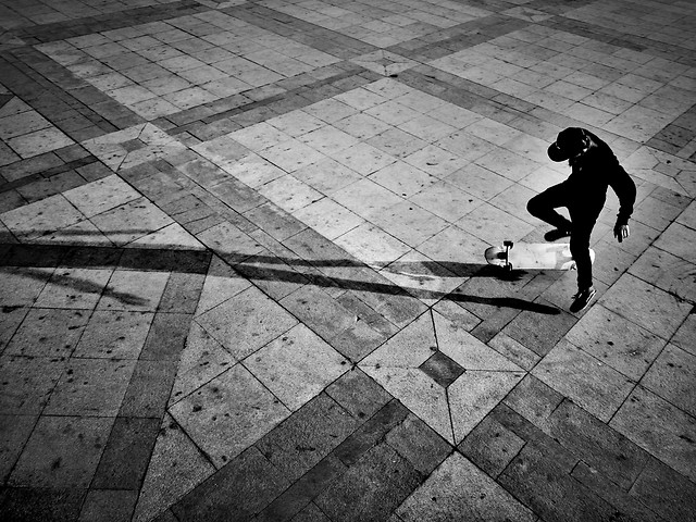 people-monochrome-street-floor-white picture material