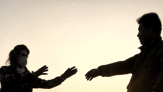 silhouette-backlit-people-sunset-one picture material