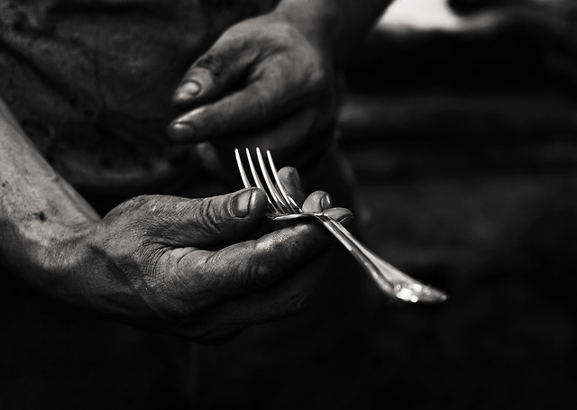people-one-knife-man-black picture material
