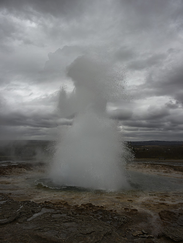 no-person-steam-geyser-eruption-hot-spring picture material