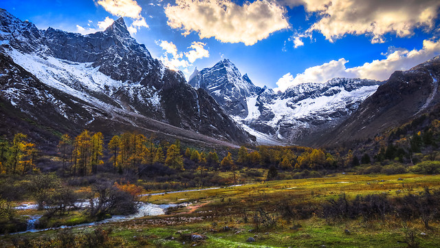 mountain-snow-landscape-nature-travel picture material