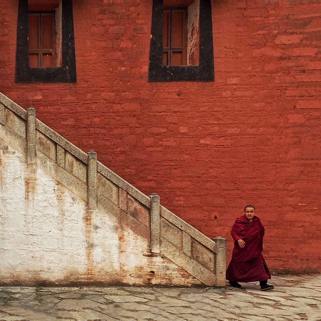 people-religion-monk-street-travel picture material