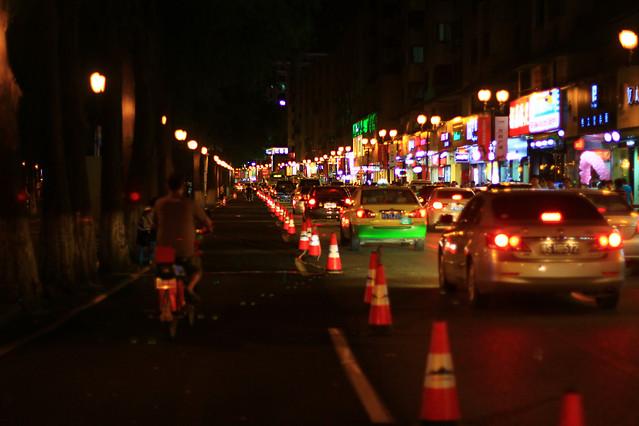 street-road-car-light-blur 图片素材