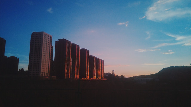 city-sunset-no-person-sky-skyline picture material
