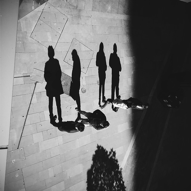 people-man-white-street-black picture material