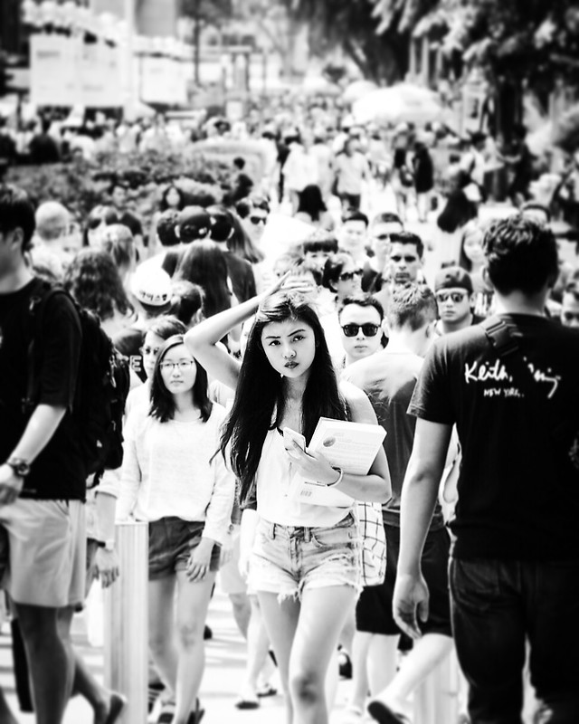 people-crowd-street-monochrome-many picture material