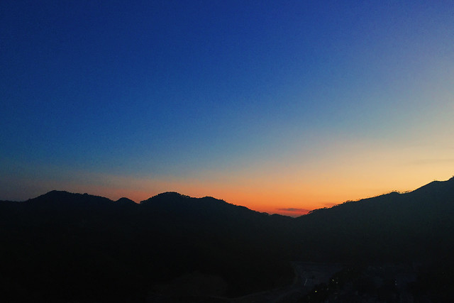 sunset-dawn-no-person-fog-mountain 图片素材