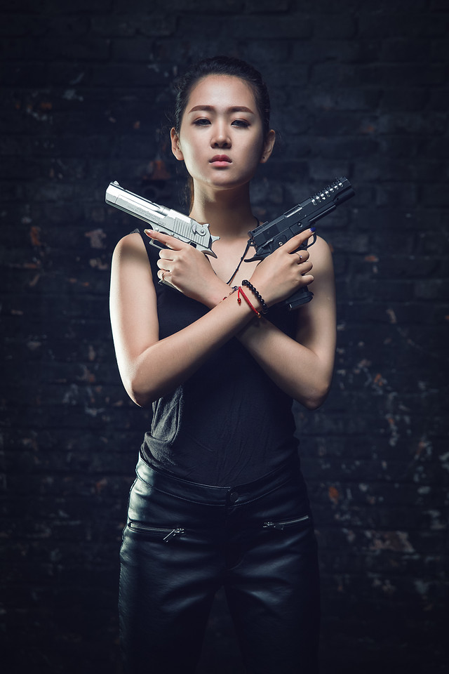girl-model-portrait-warrior-fighter picture material